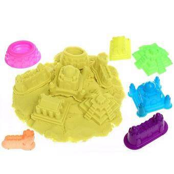 Harga DIY Kinetic Space Sand With Colors (2kg) Theme Wooden Toy Building Blocks Puzzle milk lego rc games bricks (Yellow)