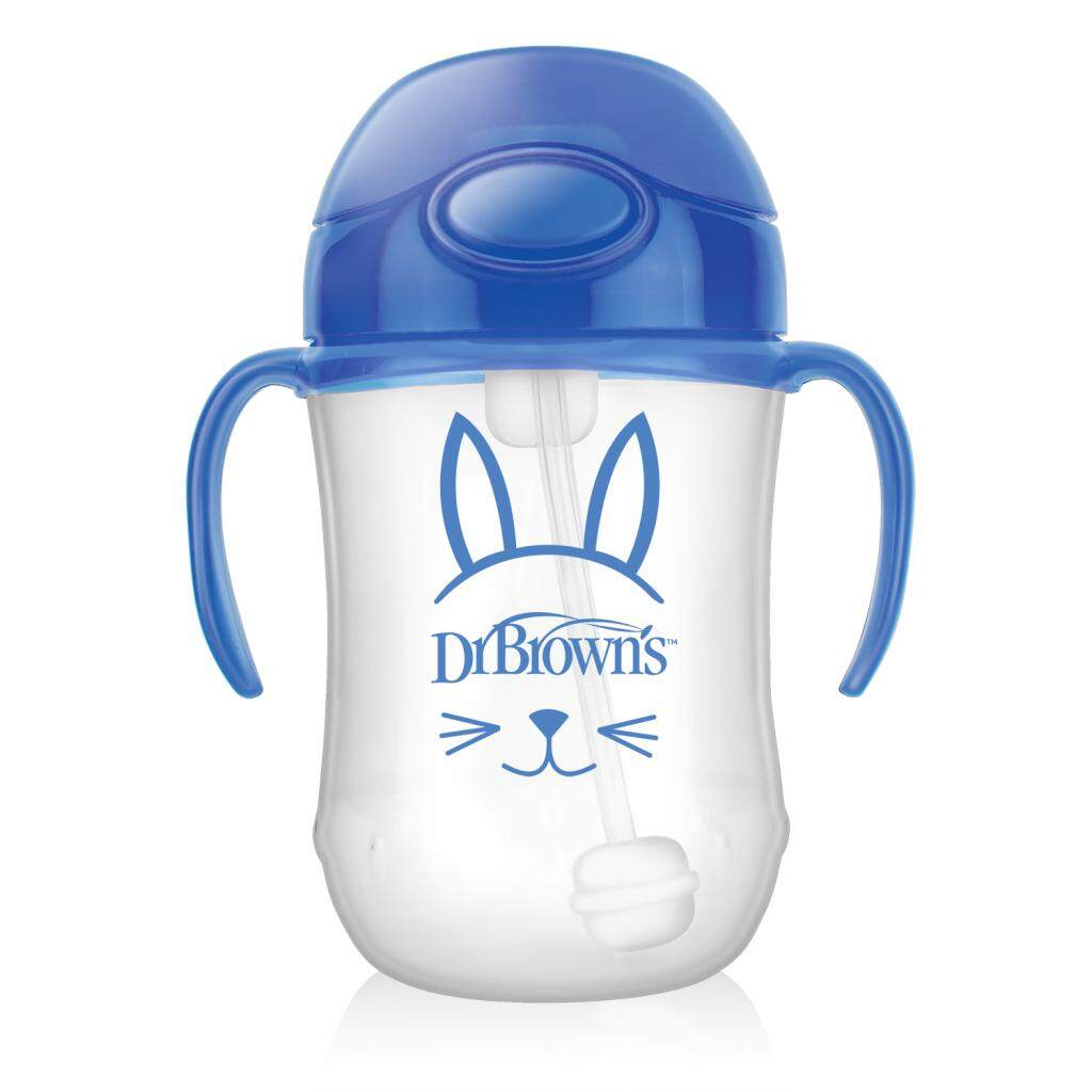 Dr. Brown's 9 oz / 270 ml Baby's First Straw Cup with Handles - Blue (Stage 1: 6month+)