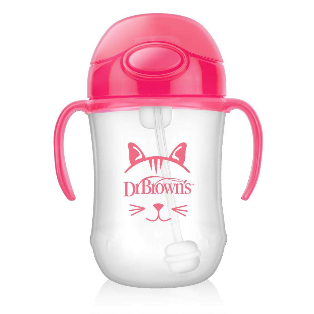 Dr. Brown\'s 9 oz / 270 ml Baby\'s First Straw Cup with Handles - Pink (Stage 1: 6month+)