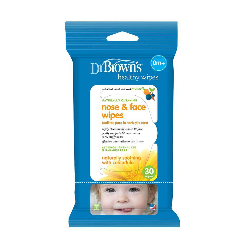 Dr. Brown\'s Nose & Face Wipes (30-Pack)