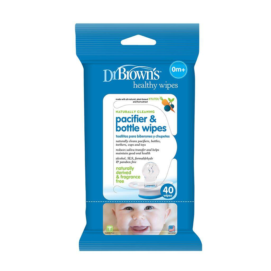 Dr. Brown's Pacifier & Bottle Wipes (30-Pack)