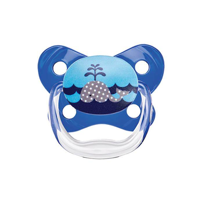 Dr. Brown's PreVent Contoured BUTTERFLY SHIELD Pacifier - Stage 1 * 0-6M - Blue (2-Pack)