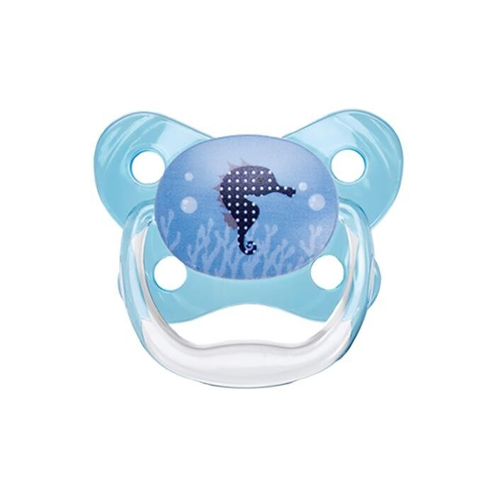 Dr. Brown\'s PreVent Contoured BUTTERFLY SHIELD Pacifier - Stage 1 * 0-6M - Blue (2-Pack)