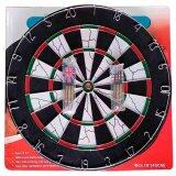 "Dual Side Tournament Dart Board 18"" x 1"" (Free 6 Darts)"