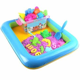 Harga EPD DIY Kinetic Space Sand With Colors (2kg) Theme Wooden ToyBuilding (Purple)