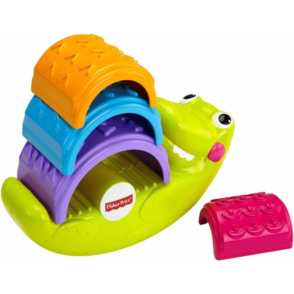 Fisher-Price FP INFANT STACK AND ROCK CROC RF INFANT TOY (6 month+) baby toys