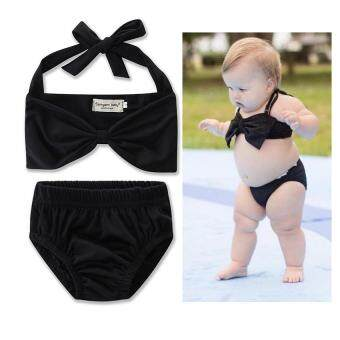 Girls clothing sets 2017 summer Suitable for swimming clothing set vest + briefs 2pcs baby girl clothing sunbathing clothing set