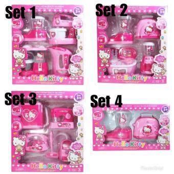 Features Children Portable Kitchen Toy Play Set Playset Hello Kitty