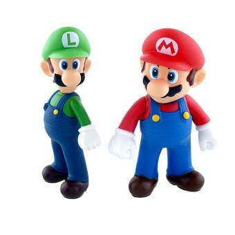 Harga Lot 2 Nintendo New Super Mario Bros Brothers Luigi Toy PVC Action Figure Gifts