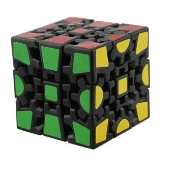 Harga 360WISH Black Gear Cube Puzzle Toy (EXPORT)