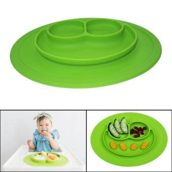 Harga leegoal Baby Feeding One-Piece Mini Happy Face Plate (Green)