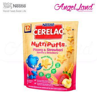 Harga Nestle Cerelac Nutri Puffs Banana & Strawberry 12M+ (50G)