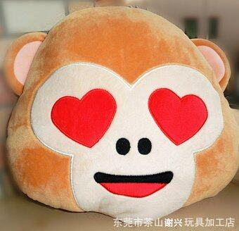 Harga Emoji MONKEY Plush Doll Face Pillow