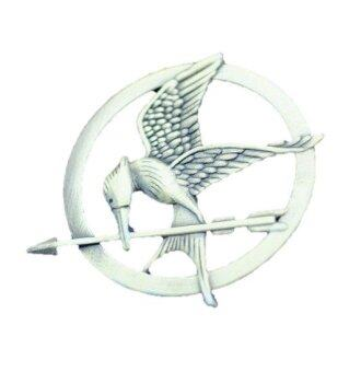 Harga 【Rdy Stock】The Hunger Games Mockingjay Catching Fire Pin Badge -Silver