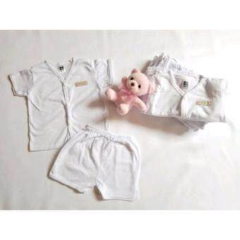 Harga Baby Newborn Delivery Hospital Wear Button Shirt With Short Pants 100% Cotton Premium Quality