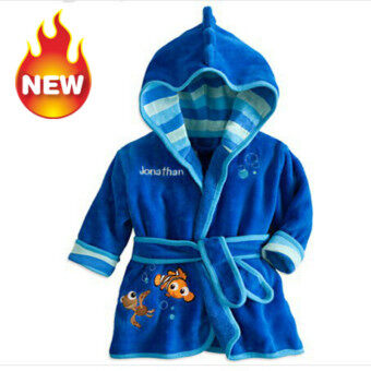 Harga Baby Bathrobe Children Pajamas Baby Homewear Blue