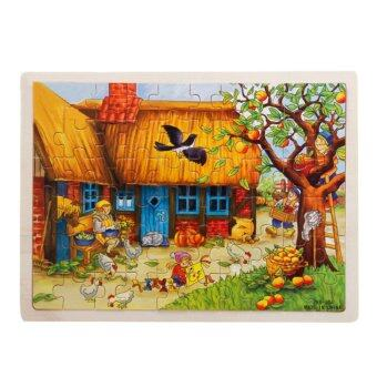 Harga 360WISH 60-Piece Apple Tree House Wooden Jigsaw Puzzle Baby Kids Children Educational Toy