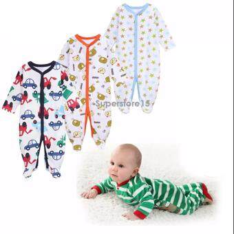 Harga Bundle Wholesales 3 pcs in 1 Set Calvin Klein Long Sleeve Rompers Baby Clothing Newborn Baby Clothes100% Cotton Cartoon Rompers Long Sleeve Baby Product Baby Clothing Infant aby newborn gift Christmas gift fullmoon gift