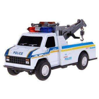 Harga 1:28 Pull Back Car Toy Children Police Crane/Firefighting Cars Toys(Blue)