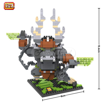 Harga LOZ 9718 Kai (680Pcs) Kung Fu Panda Building 3D Blocks DIY Bricks Toys Figure Gift
