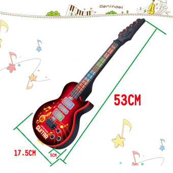 Harga 360WISH 4 Strings Music Electric Guitar Kids Musical Instruments Educational Toy - Red
