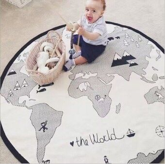 Harga Baby Play Mat Adventure World Map Game Pad Crawling Mat Children's Room Baby Game Pad Rug Mattresses