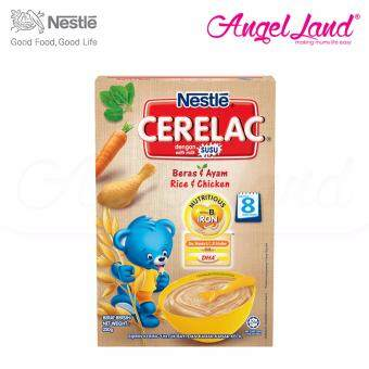 Harga Nestle Cerelac Rice & Chicken 8M+ (250G)