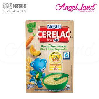 Harga Nestle Cerelac Rice & Mixed Vegetables 6M+ (250G)