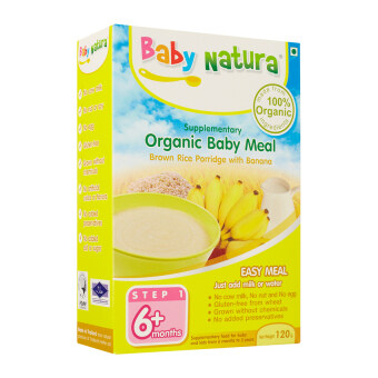 Harga Baby Natura Organic Brown Rice Porridge - Banana