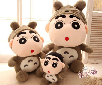 Harga Candice guo! Super cute Crayon Shin-chan changeable to Totoro plush toy soft stuffed doll birthday gift 1pc