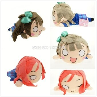 Harga Free Shipping New LoveLive Plush Kotori Minami & Maki Nishikino Stuffed Toy Cosplay Costume Puppet Cute Doll Toy 12""