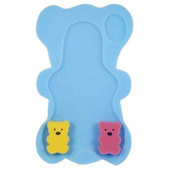 Harga Safe Baby Shower Bath Seat Infant Non Slip Soft Pad Mat Body Support Cushion Sponge(Blue)