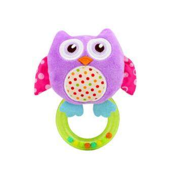 Harga Happy Monkey Purple Owl Baby Rattles Toy AA-22