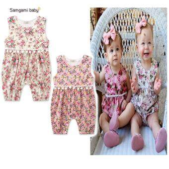 Harga 2017 Toddler Baby Girls Clothes Baby Rompers Summer Baby Girls Clothing Sets Cotton Newborn Baby Clothes Infant Jumpsuits