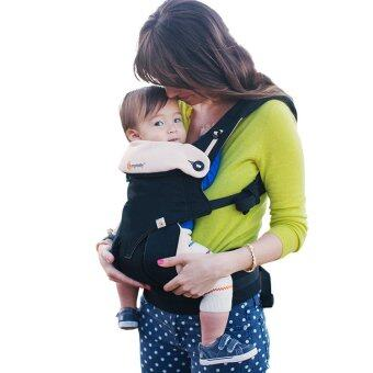 Harga Ergobaby Baby Korea Style Carrier Top Baby Sling Hipseat four style 360 baby baby sling cotton multifunction baby carrier air section- Black Camel