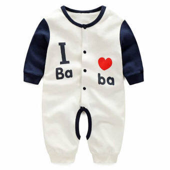 Harga Newborn Cotton Baby Boys I love baba Clothes Baby Rompers Long Sleeve Body Suits Jumpsuits