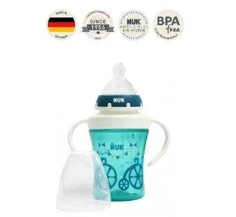 Harga NUK Premium Choice Cup with Silicone Teat Plus 200ml (4+ months) - Deep Green