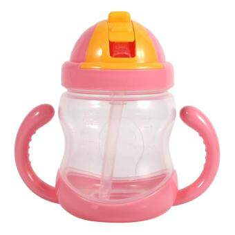 Harga 280ML Baby Cup Drinking Straw Children Feeding Bottle Cups (Red)