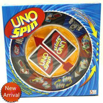 Harga Happy Family Party Games Uno Spin New uno Card Game Portable Kids Toys Novelty Gifts