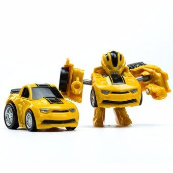 Harga Toys Games Action Figures Hornets King Kong Q Version Transformed Toys King Kong Mini Ransformer Robot Transforming Car Robot Toys-Yellow