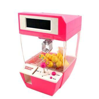 Harga 360DSC Coin Operated Candy Grabber Desktop Doll Candy Catcher Crane Machine wtih Alarm Clock Function - Pink