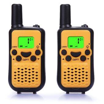 Harga Walkie Talkies, Wireless Interphone 22 Channel FRS/GMRS 2 Way Radio 2 miles (up to 3 Miles) UHF Handheld Walkie Talkies for Kids Use (1 pair)(Yellow)