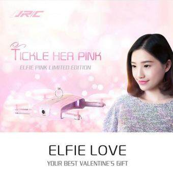 Harga JJRC H37 Elfie RC Quadcopter WIFI FPV Real-time Transmission Altitude RTF Pink