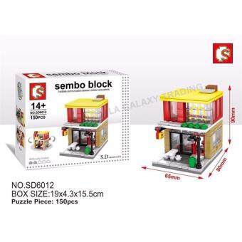 Harga Sembo Block SD6012 Mcd mini street building blocks Collection