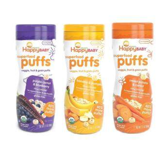 Harga Happy Baby Happy Puff 60gm (Sweet Potato,Blueberry,Banana)