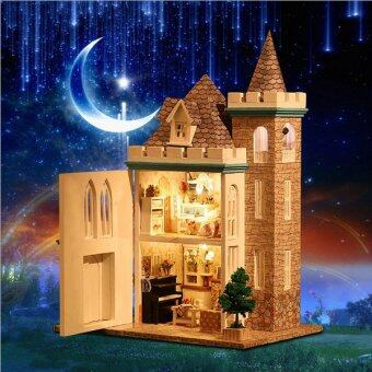 Harga Moonlight Castle DIY Doll House with Light and Dust Cover