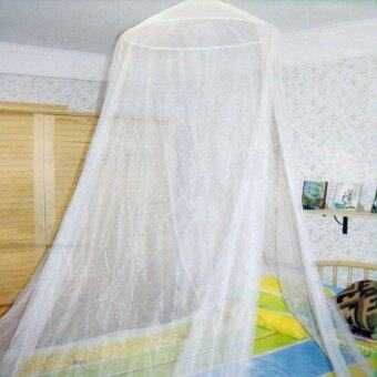 Harga Luxury Home Double Ceiling Bed Dome Mosquito Net White