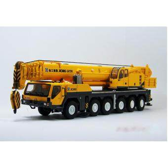 Harga 1:50 Original China XCMG QAY200T Mobile Heavy Crane Metal Die Cast Truck Model Yellow Color