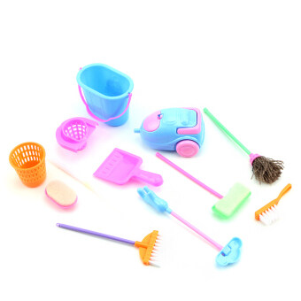 Harga 9Pcs/Set Home Furniture Furnishing Cleaning Cleaner Kit For Barbie Doll House