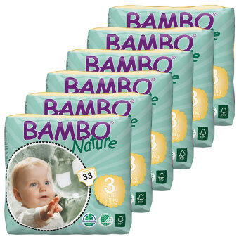 Harga Bambo Nature Midi S3(33) - 6 Packs